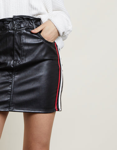 In My Lane Leather Skirt