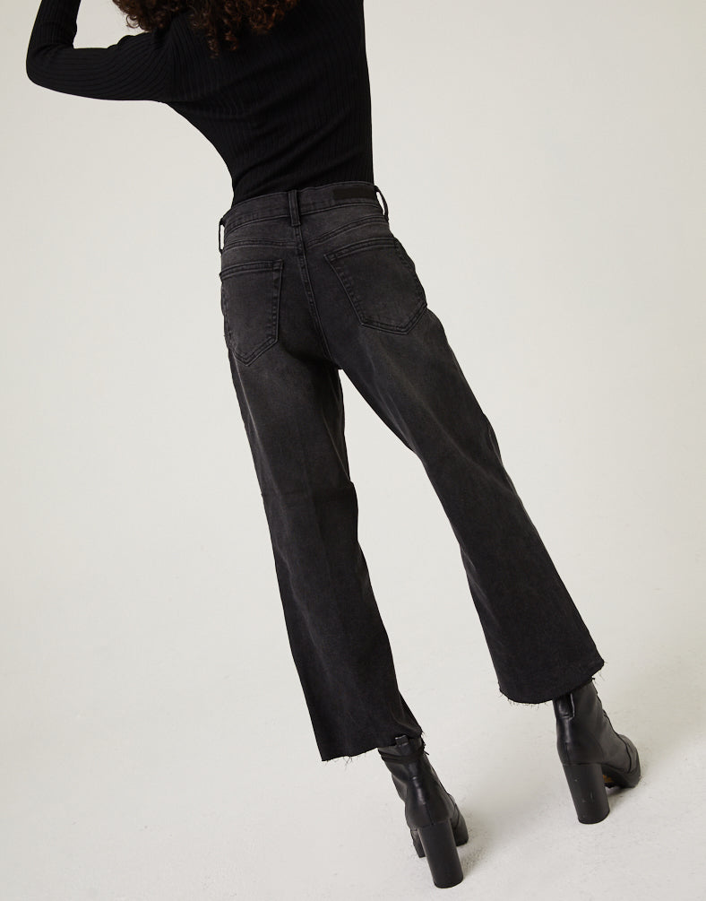 Cropped Wide Leg Jeans Bottoms -2020AVE
