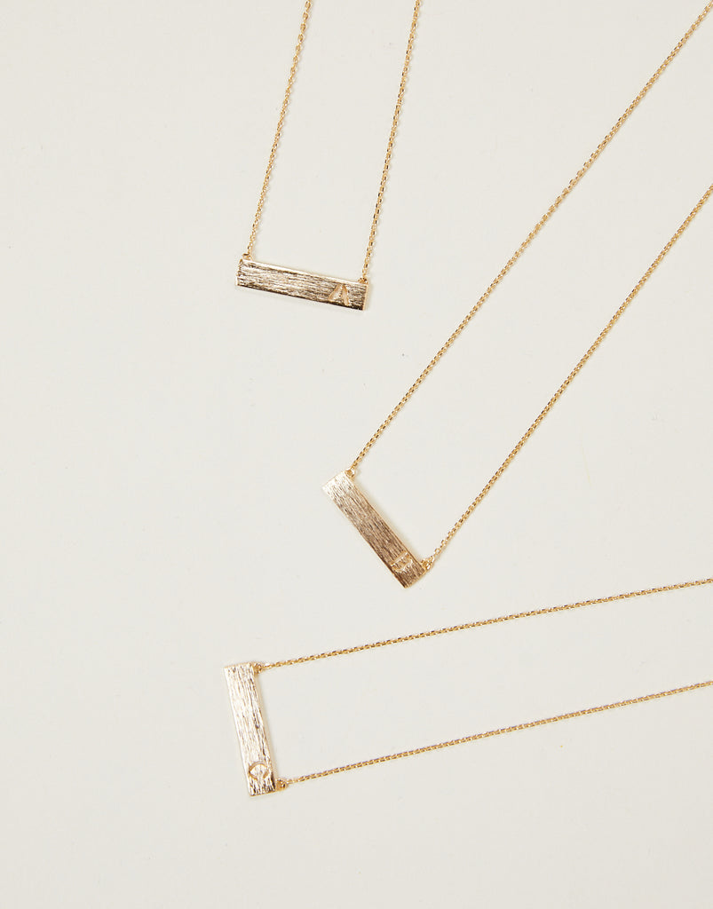 Initial Bar Necklace Jewelry -2020AVE