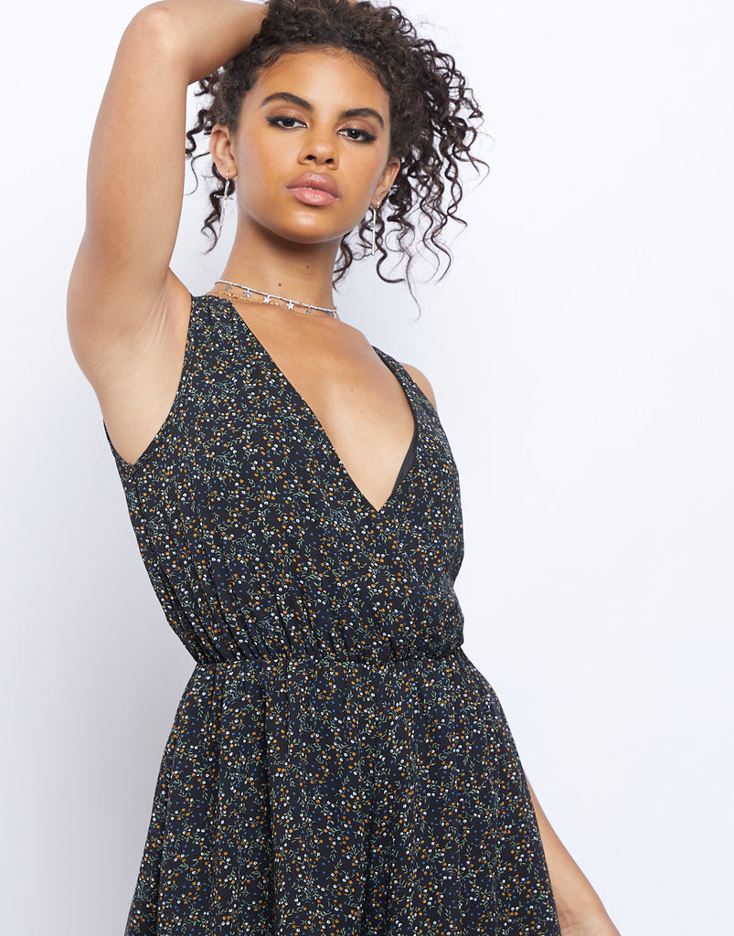 Into Bloom Sleeveless Romper Rompers + Jumpsuits Black Small -2020AVE
