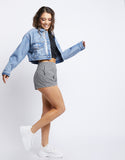 It's Midnight Cropped Denim Jacket