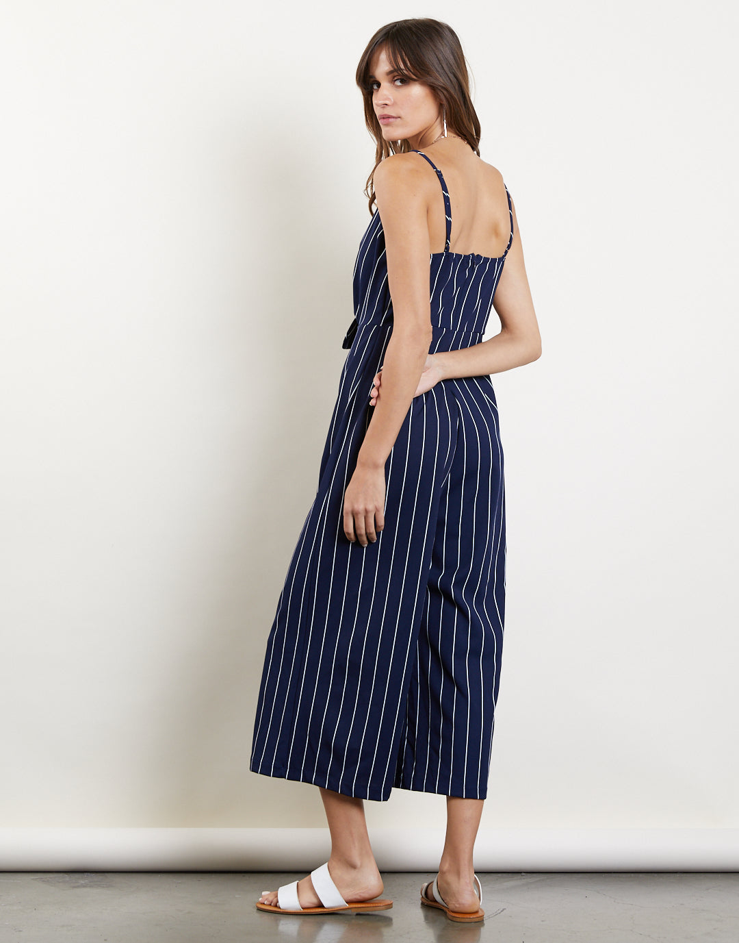 Jump Into It Tie Front Jumpsuit