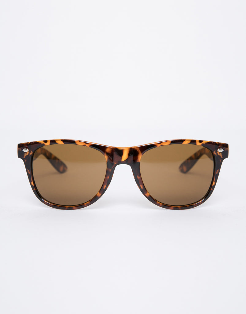 Just Another Day Wayfarer Sunglasses Accessories Tortoise One Size -2020AVE