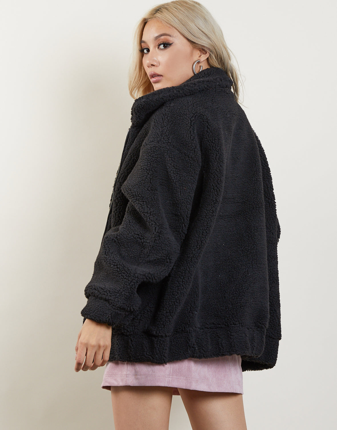 Just Faux You Oversized Sherpa Jacket