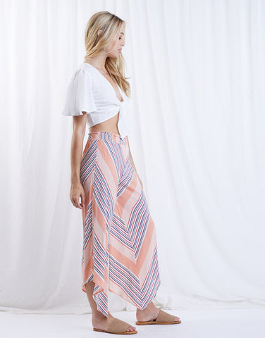 Just Peachy Striped Pants