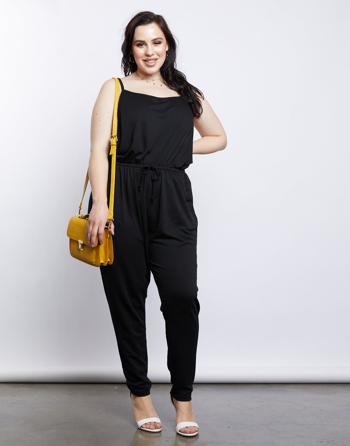 cd5bcf6f376 Kallie Cinched Waist Jumpsuit - plus size jumpers and rompers – 2020AVE