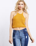 Katelin High Neck Knit Tank