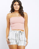Kaylen Ribbed Knit Tube Top