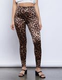 Khai Satin Leopard Pants