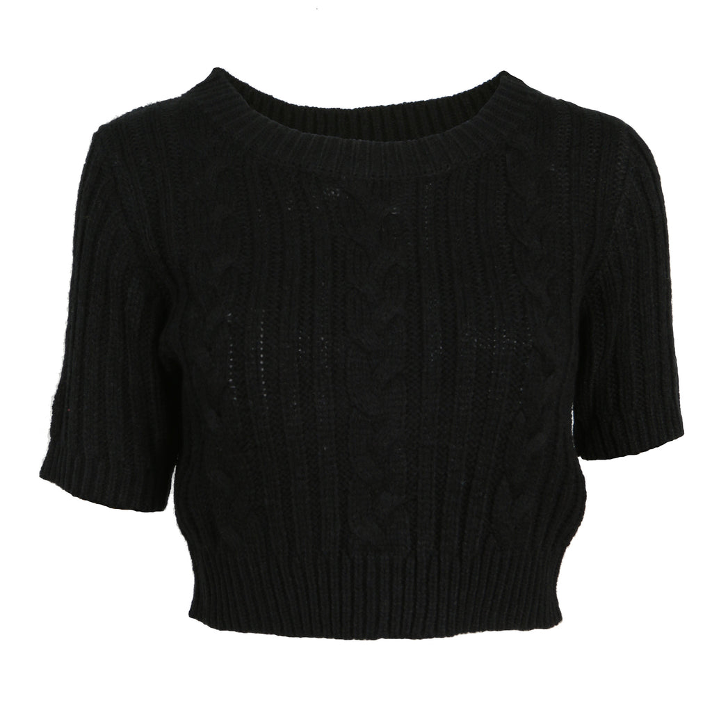 Knit Cropped Sweater Tee - 2020AVE