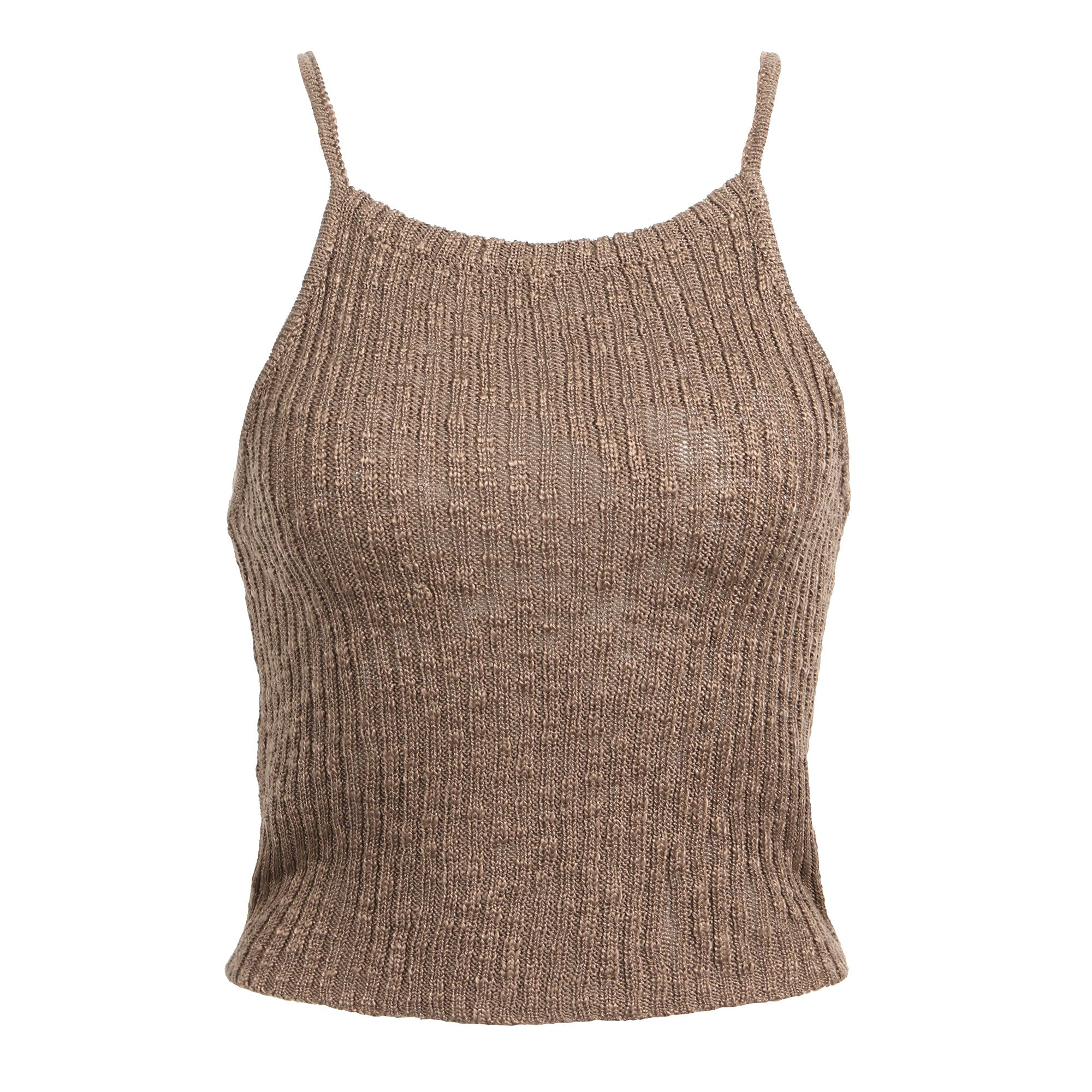 Knitted Bib Crop Top - 2020AVE