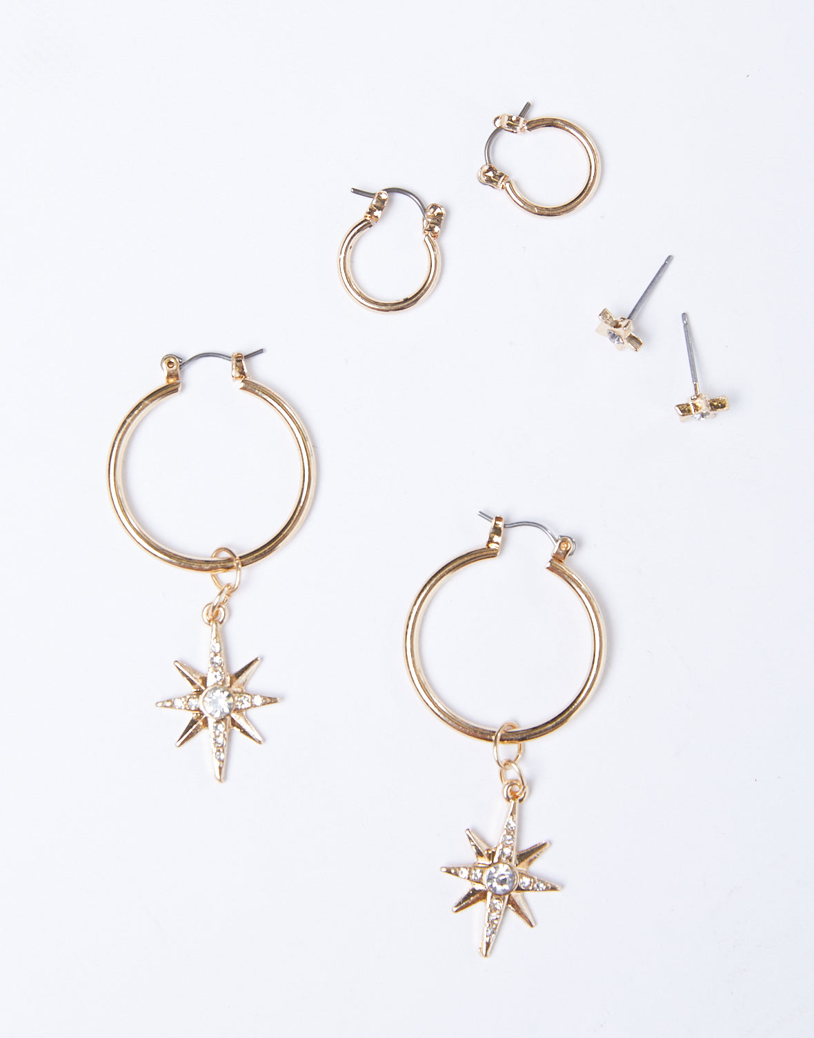 Star Hoops Earrings Set