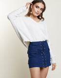 Lace Me Knot Skirt