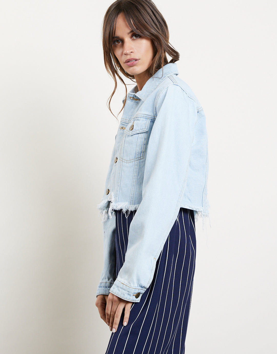 Last Chance Cropped Denim Jacket