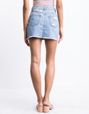 Lauren Shredded Denim Skirt