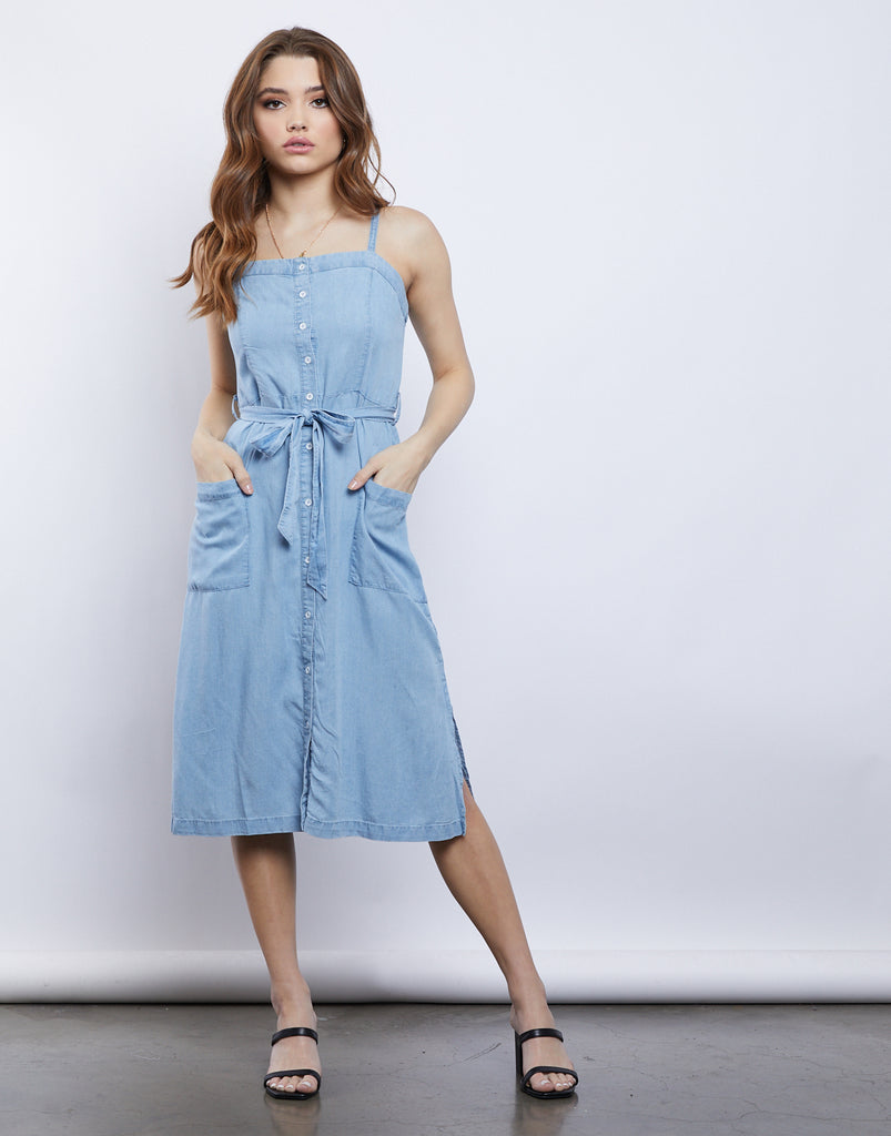 Layla Button Down Dress Dresses -2020AVE