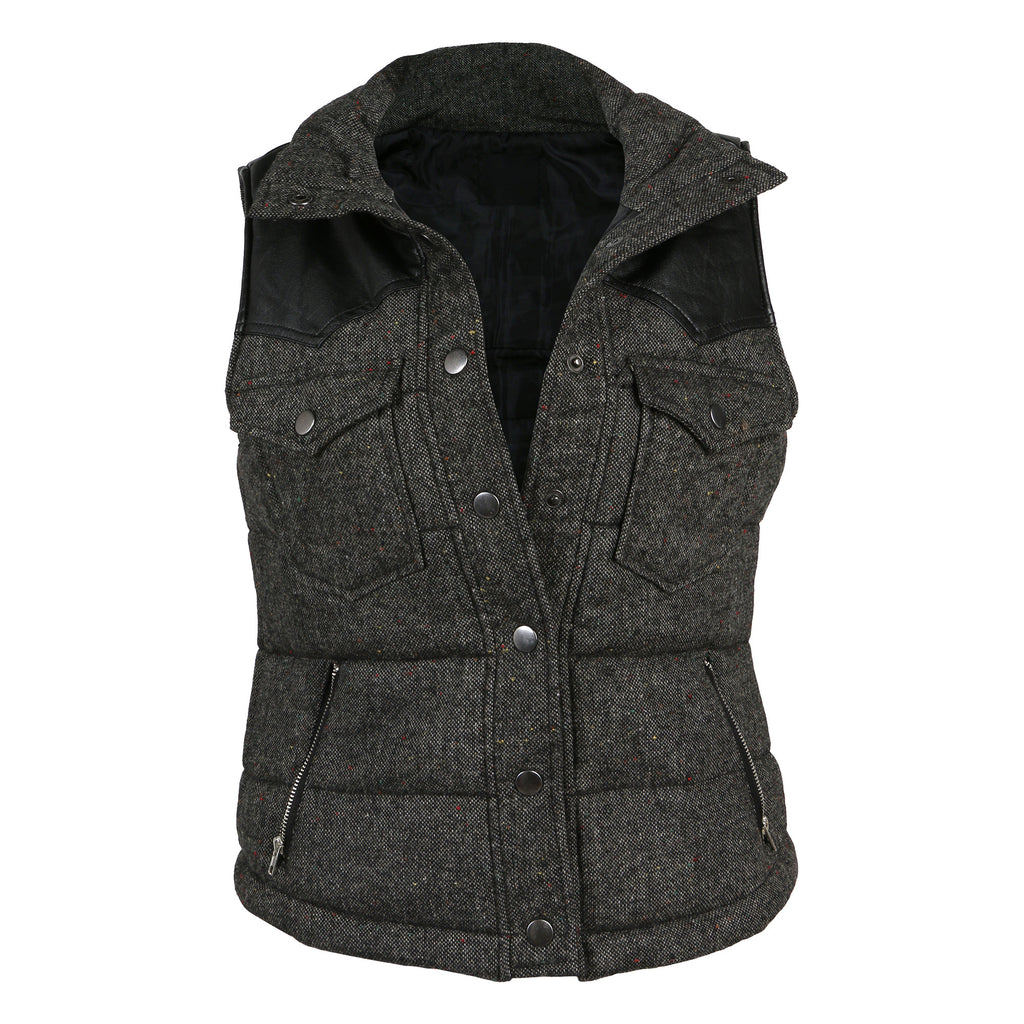 Leather Contrast Vest - 2020AVE