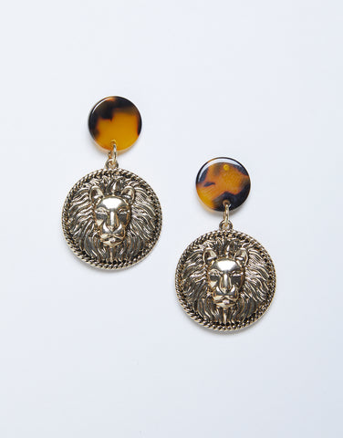 Leo Coin Earrings
