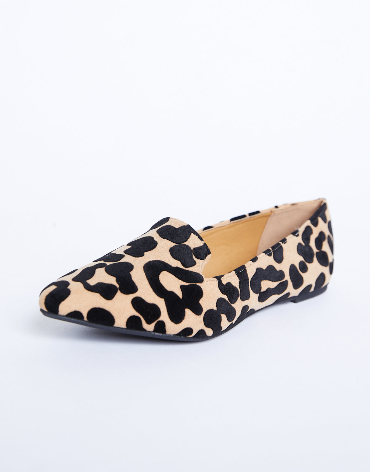 Leopard Pointed Toe Loafers