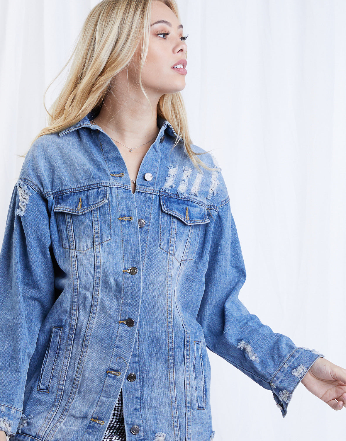Let's Hang Oversized Denim Jacket