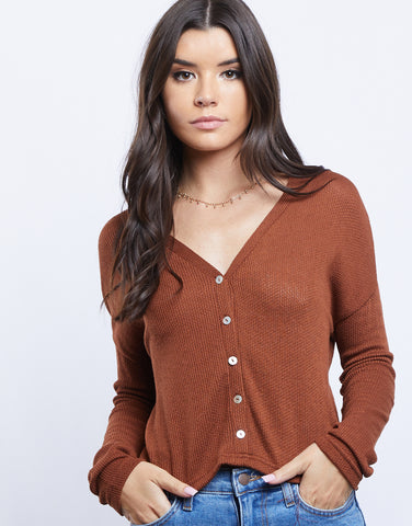 Light As Air Cropped Cardigan Top