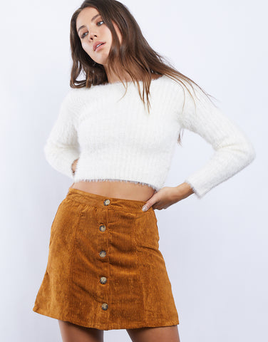 Like Gold Corduroy Skirt