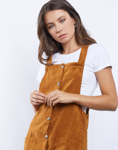 Like Gold Overall Dress