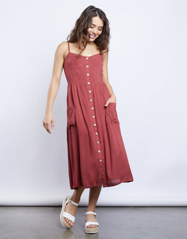 Lilia Button Front Dress
