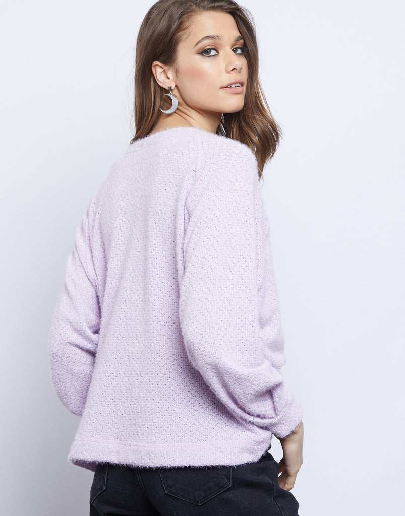 Lily Fuzzy Sweater Tops -2020AVE