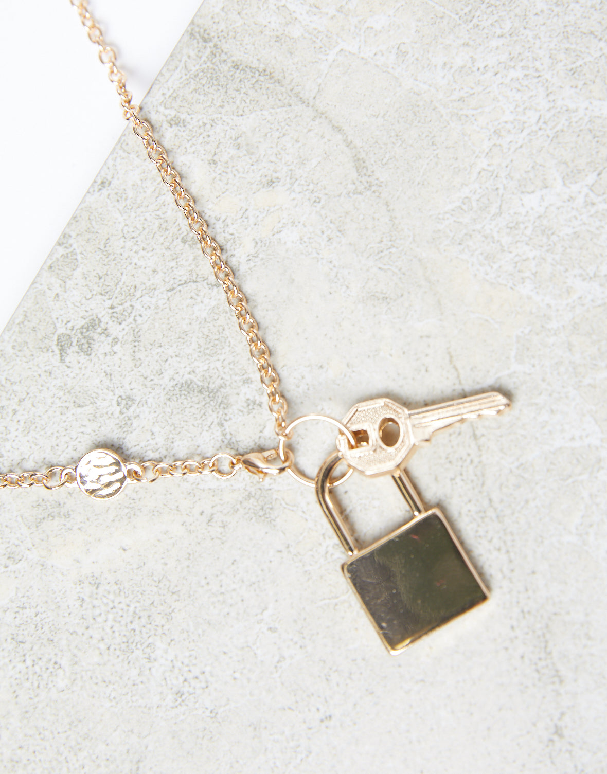 Lock It Up Chain Necklace