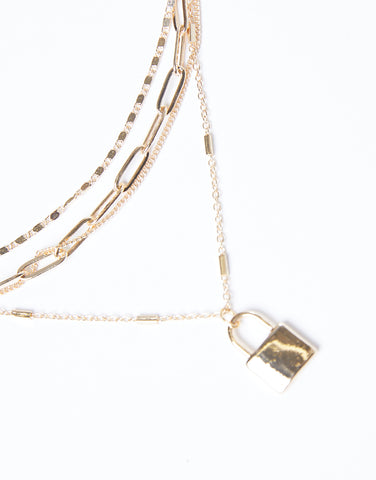 Lock On You Layered Necklace