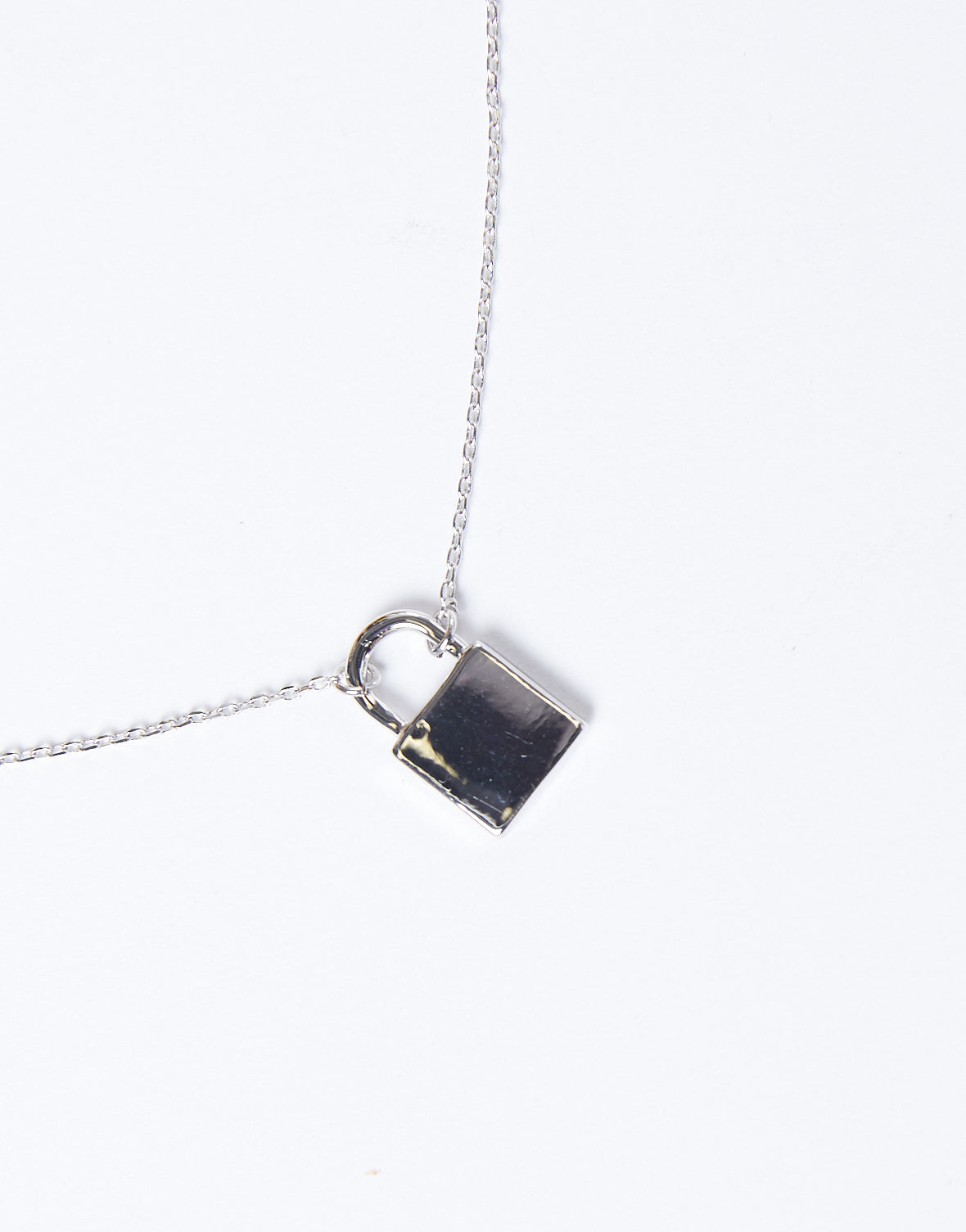 Locked Up Thin Chain Necklace