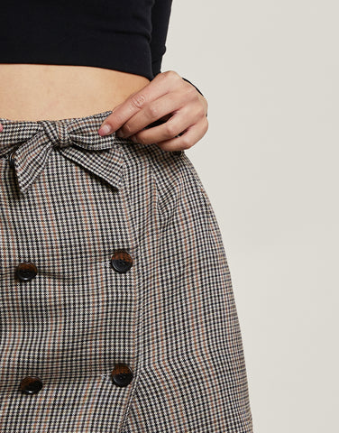 London Fog Plaid Skirt