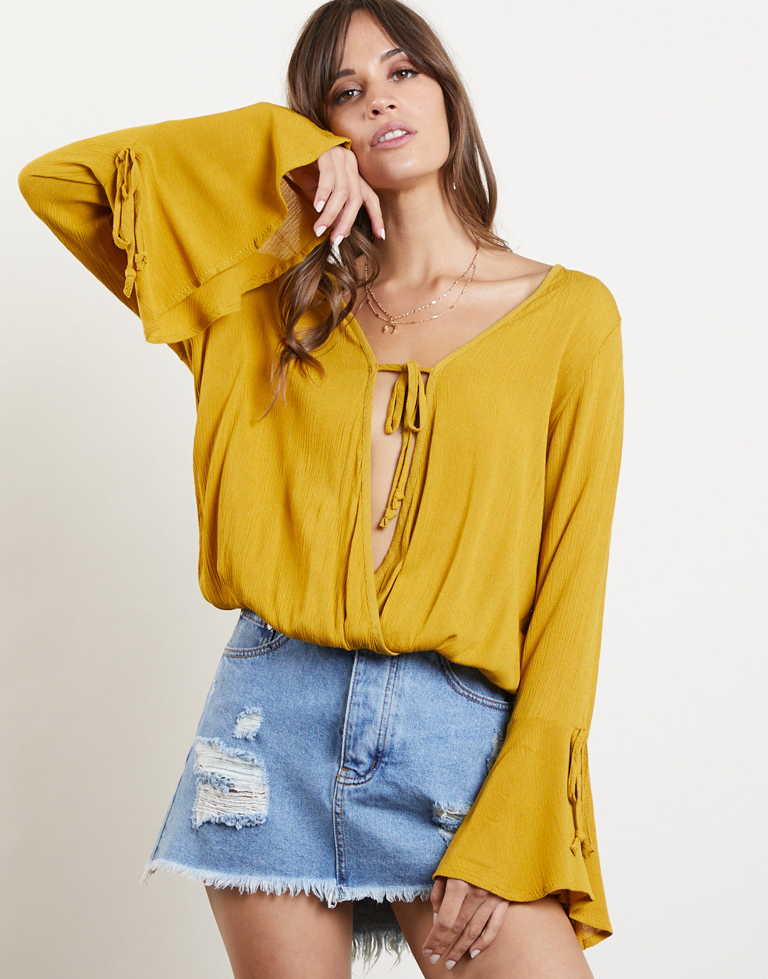 Long Story Short Bell Sleeve Top