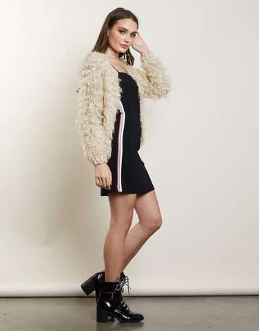 Looped In Shaggy Cardigan
