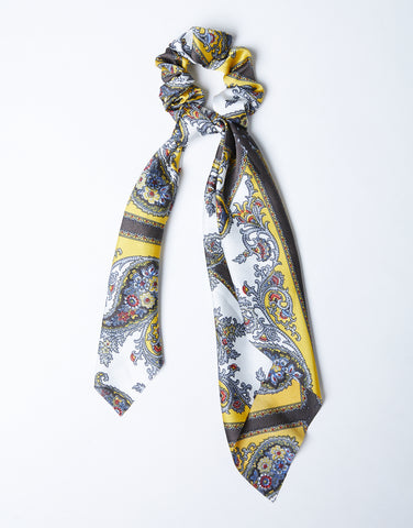 Luxe Paisley Scarf And Scrunchie Set