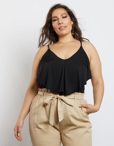 Plus Size Maddie Single Ruffle Bodysuit
