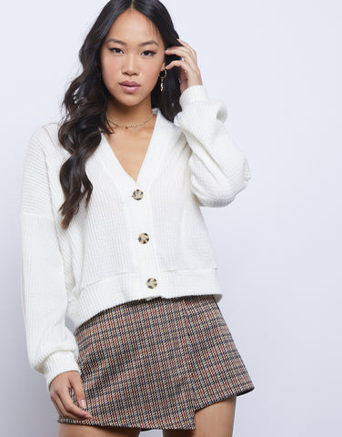 Madeline Cropped Cardigan Top