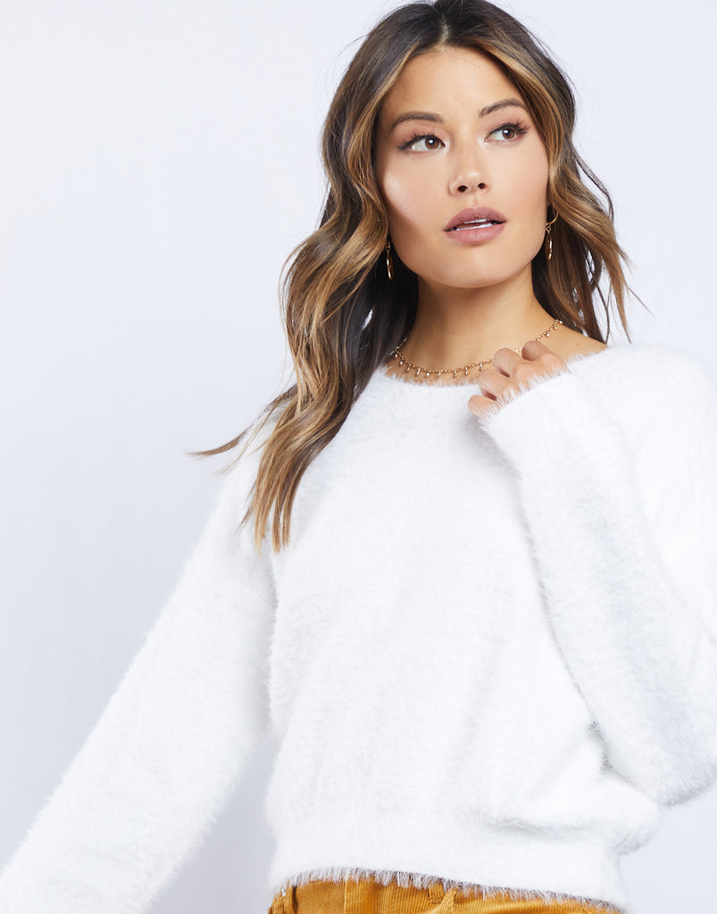 Maisie Fuzzy Sweater Tops -2020AVE