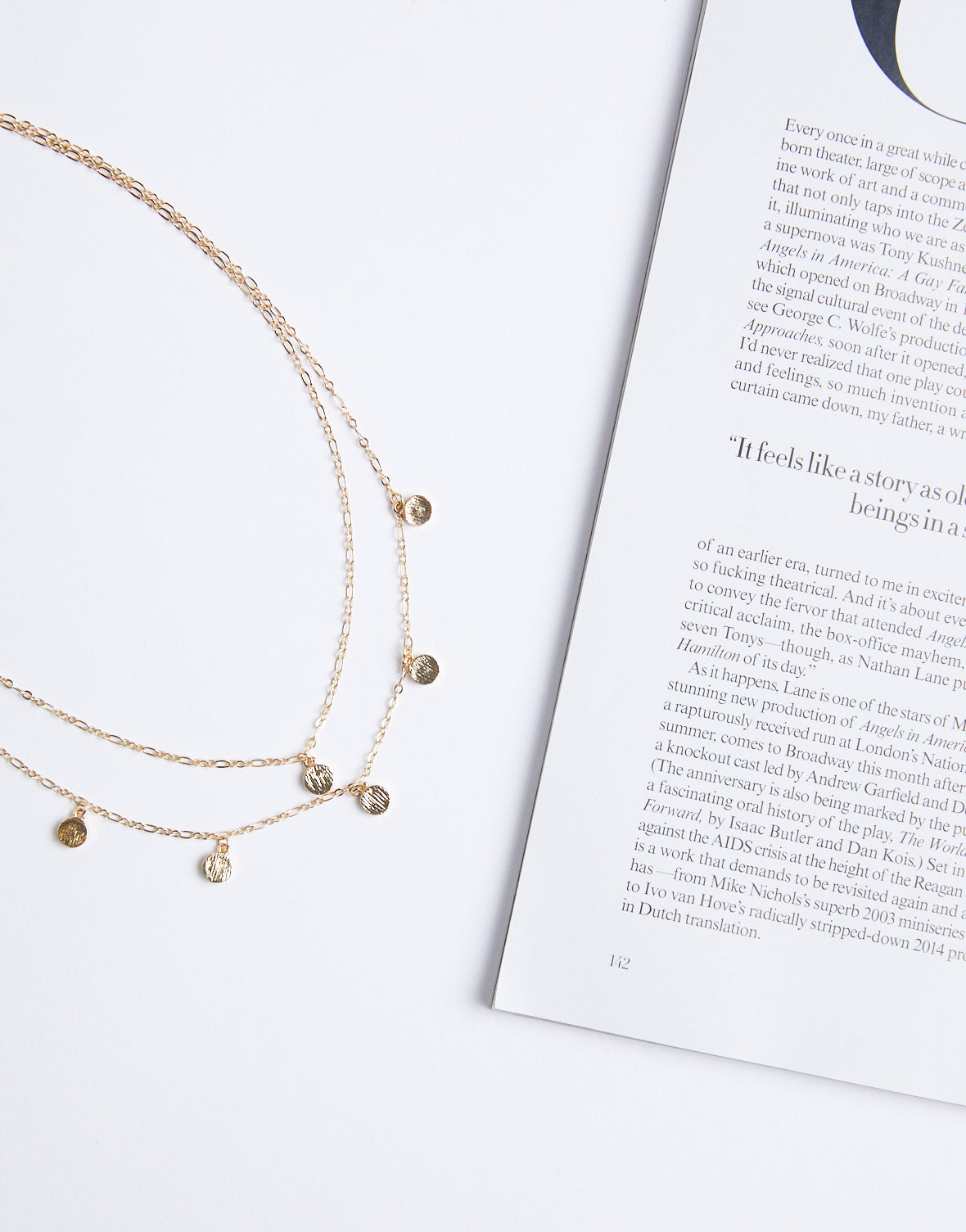 c45ae184f25260 Make a Wish Coins Necklace - Layered Gold Necklace - Dainty Necklace –  2020AVE