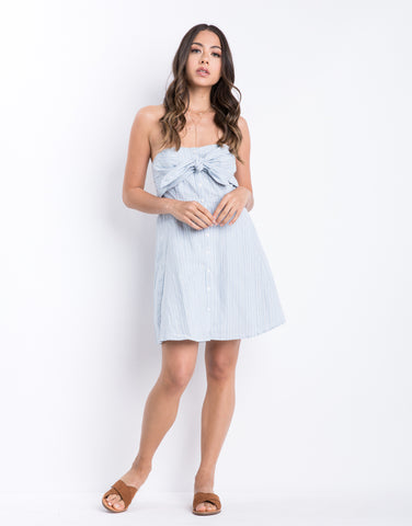 Malibu Tie Front Mini Dress