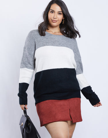 Plus Size Mary Ann Multi Sweater