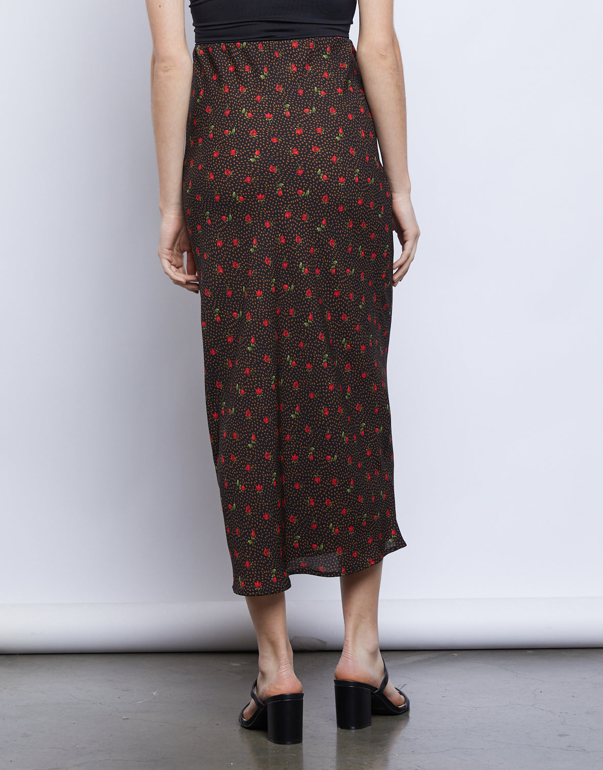 Marissa Patterned Midi Skirt
