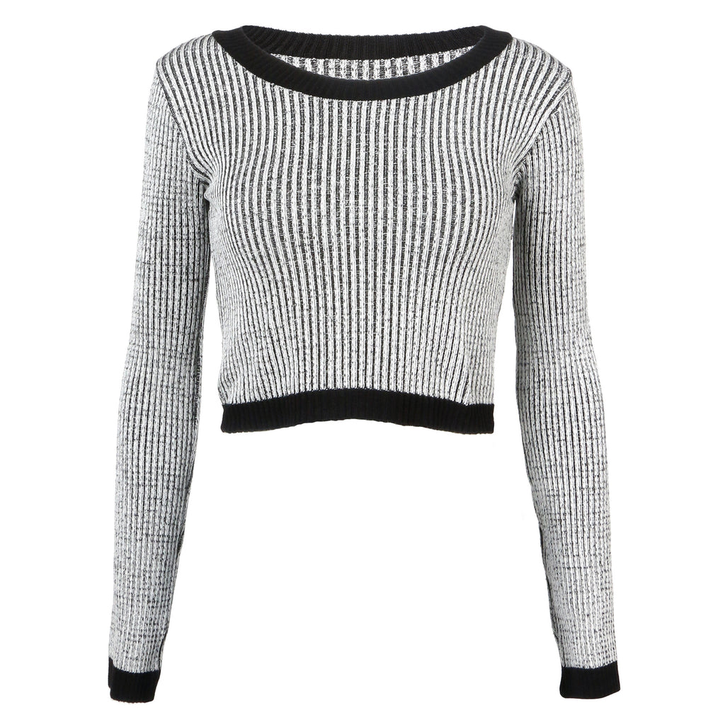 Marled Knit Crop Top - 2020AVE