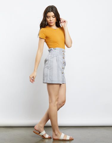 Meet Me In Capri Striped Skirt