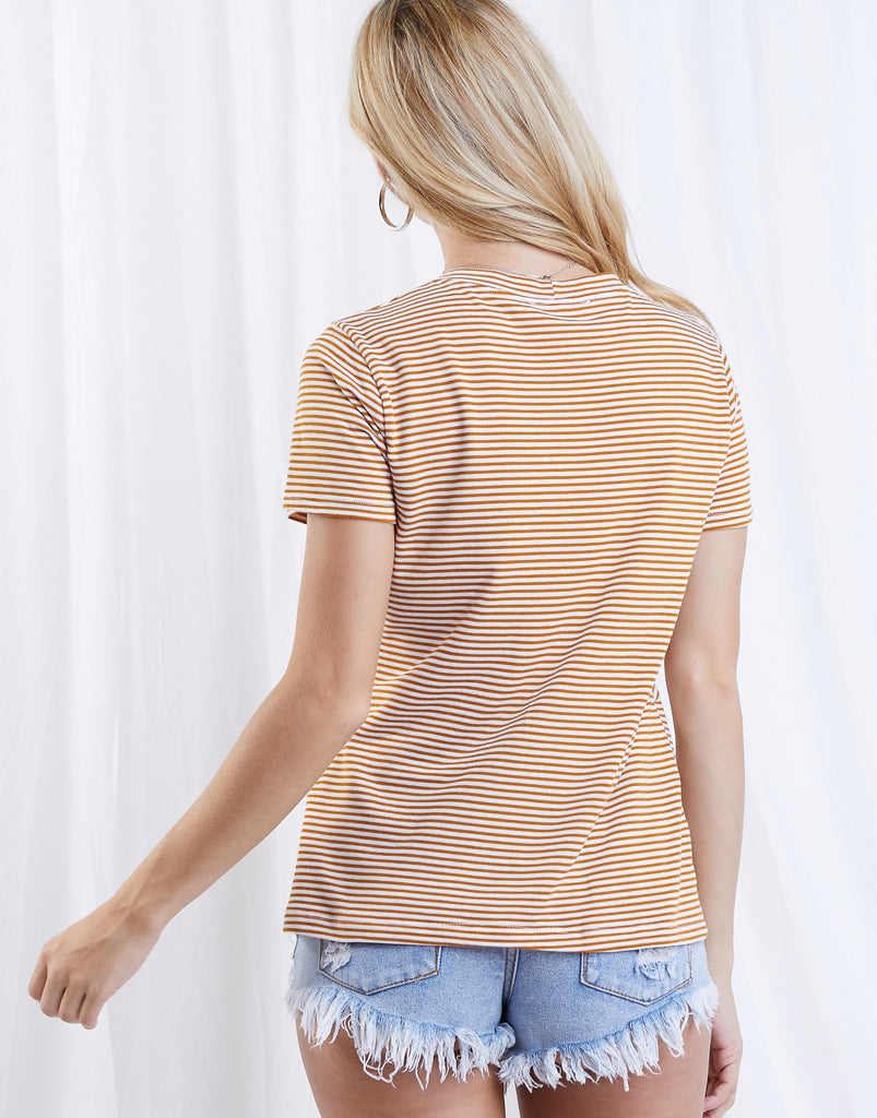 Mellow Days Knotted Top Tops -2020AVE