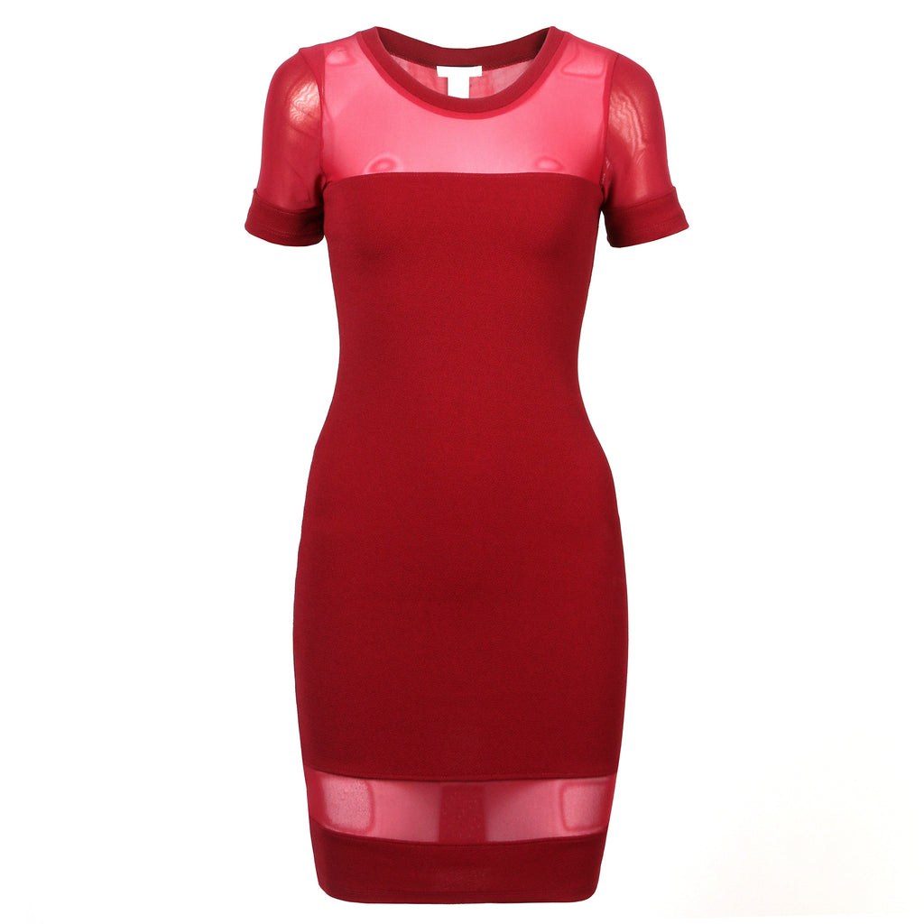 Meshy Bodycon Dress - 2020AVE