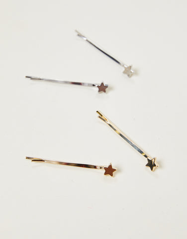 Metallic Star Hair Pins