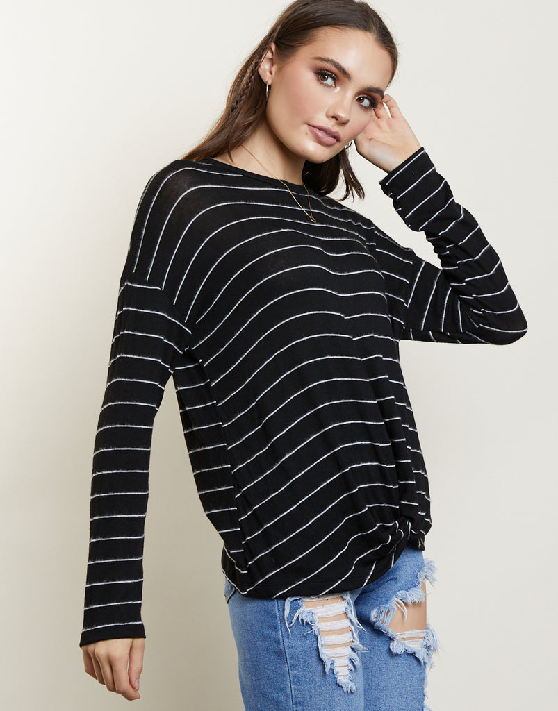 Midnight Striped Top Tops -2020AVE