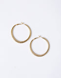 Mila Textured Hoop Earrings